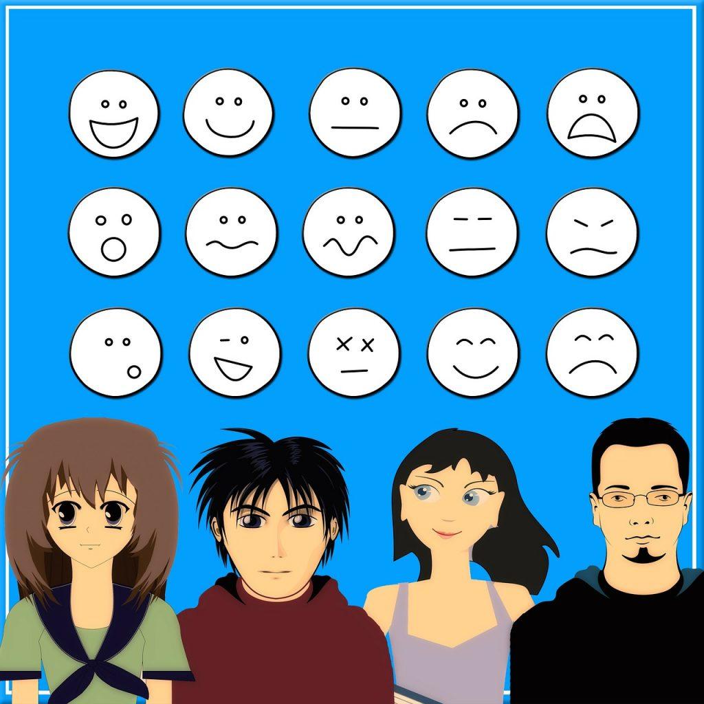 Différentes émotions